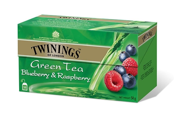 Green Tea Blueberry & Raspberry 25x2g